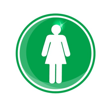 toilet paper art: Woman male sign icon Illustration