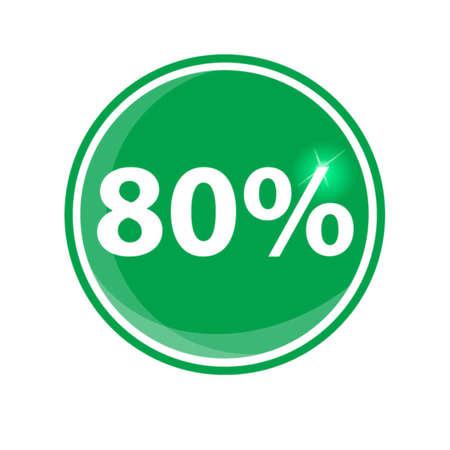ochenta: ochenta por ciento, aislado 80%