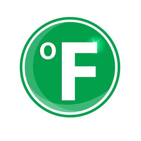 fahrenheit: icono circular fahrenheit Vectores