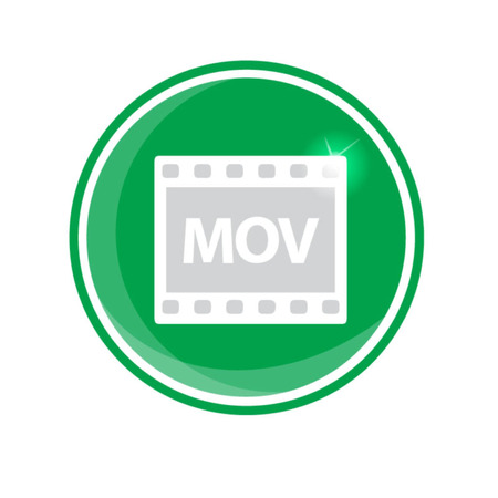 mov: MOV video icon, vector illustration