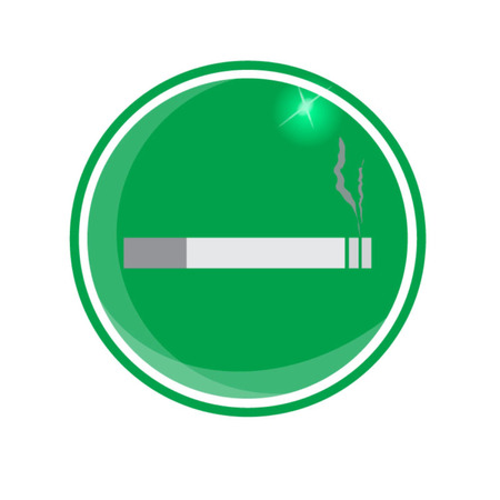 cigar shape: smoking area zone icon on green