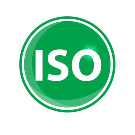 norm: iso icono circular verde sobre fondo blanco Vectores