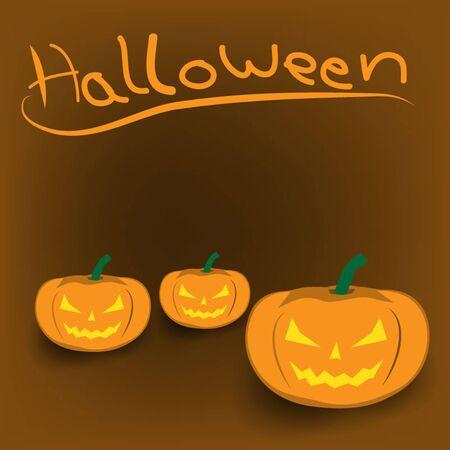 smilling: background of  Halloween Jack-o-lantern