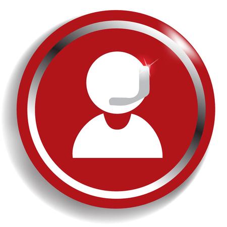 Operator in headset - Vector icon Vector