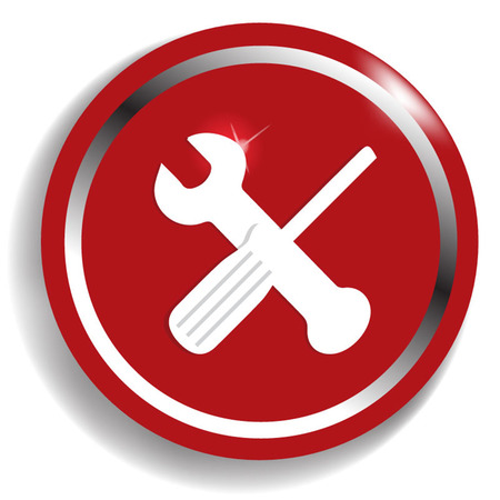 rework: crossed wrench and screwdriver icon - vector illustration Illustration