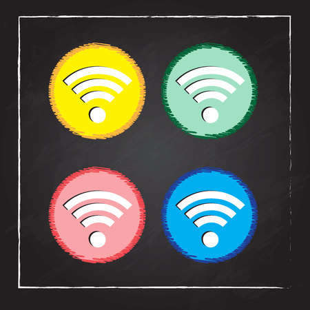 wireless network: Red inal�mbrica wifi icono, ilustraci�n vectorial