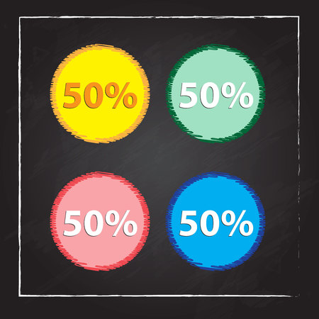 fifty: fifty percent, isolated 50%