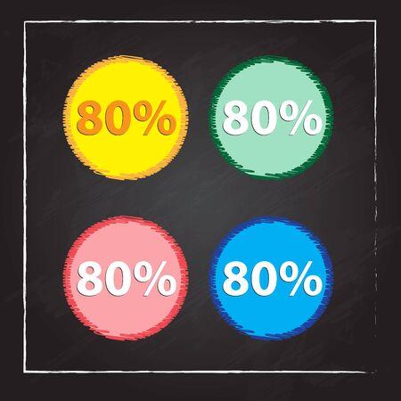ochenta: el ochenta por ciento, aislado 80%