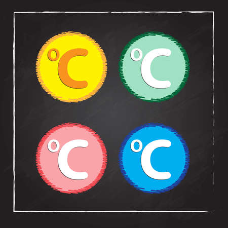 celsius: Celsius circular icon Illustration