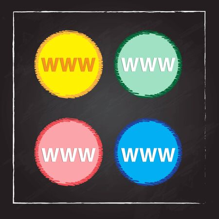 surfing the net: www circular icon