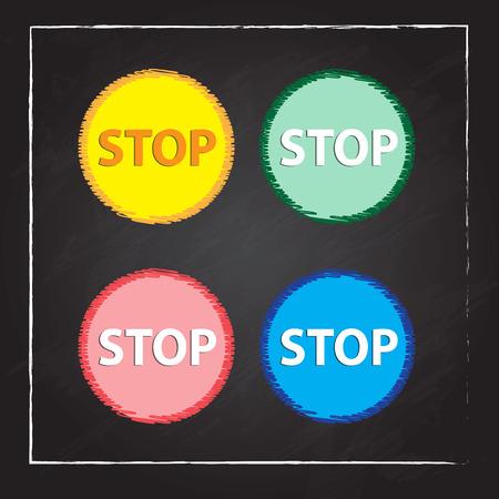 boton stop: Aislado bot�n Detener Vectores
