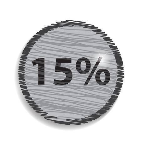 fifteen: fifteen percent, isolated 15%