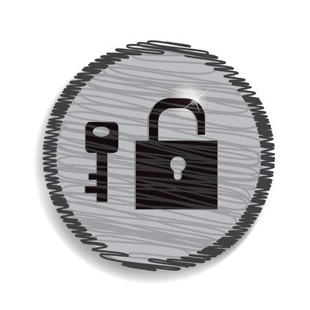 guard duty: candado y llave aislados