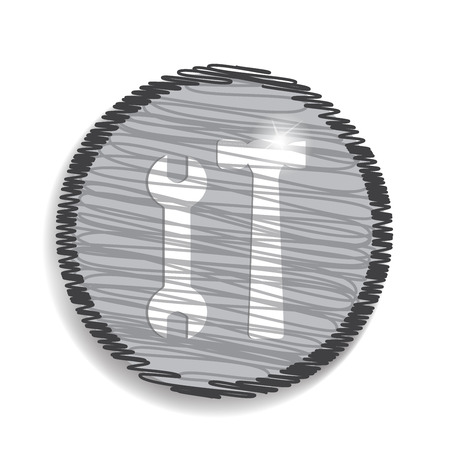 reconditioning: repair web flat icon Illustration