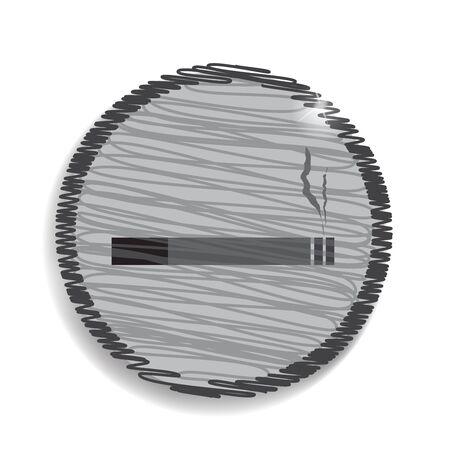 cigar shape: smoking area zone icon