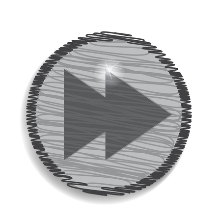 scroll: scroll circular forward icon Illustration