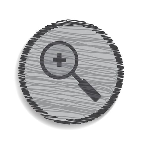 zoom in: magnifier icon zoom in
