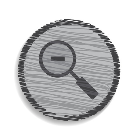 zoom out: magnifier icon zoom out