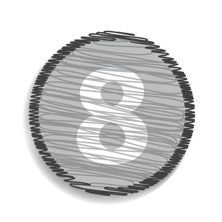 calculus: Number 8  icon Illustration