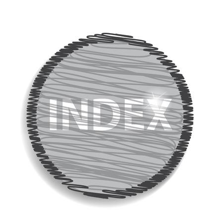 index: index circular icon Illustration