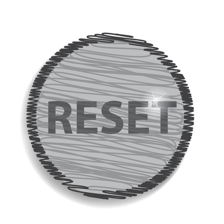 reviser: r�initialiser ic�ne circulaire Illustration