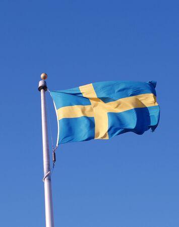 bandera de suecia: Suecia Bandera Sueca Foto de archivo