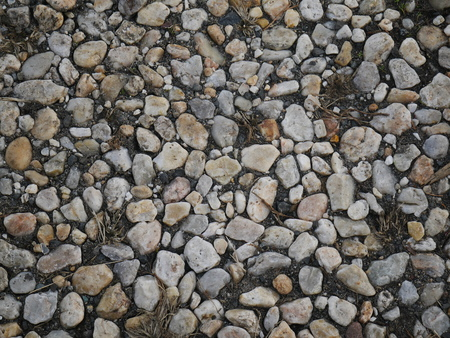 Gravel Stone or Pebble Road Street, Background and Textured. 版權商用圖片
