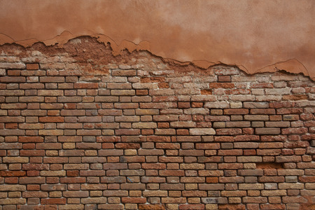 photo of  bricked weathered wall taken in Venice photo