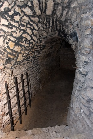 Dark entrenace to dungeon   underground Stock Photo - 14480224