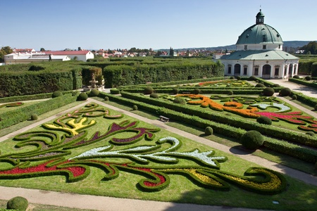 Chateau Garden in Kromeriz, Czech Republic, Moravia