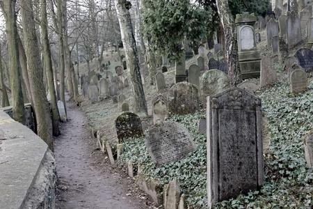 Joodse begraafplaats in Trebic, Tsjechië - exterieur