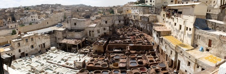 The tanneries in Fes, Morocco date back at least nine centuries