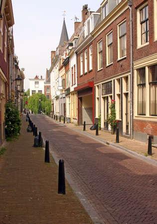 Empty Street in Utrecht - Old City in The Netherlands