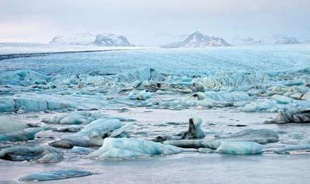 Illustratie van Glacial Lagoon van de Vatnajokull-gletsjer, IJsland