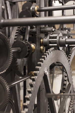 gearing: Medieval Astronomical Clock Gearing - Interior - Detail - Vertical