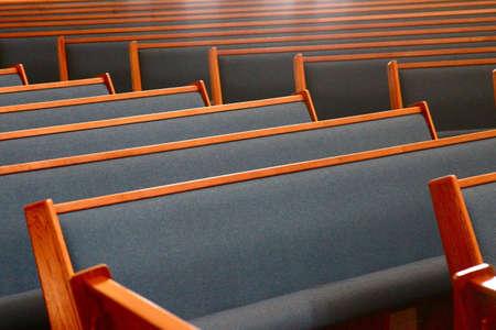 Church pews Banco de Imagens
