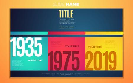 Helle Kontrastfarben Schritt für Schritt Jahre Infografik