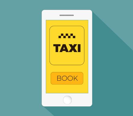 mobile app: Taxi mobile app template Illustration