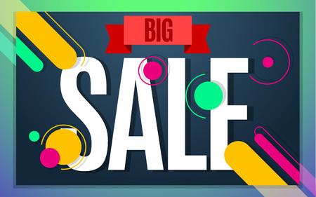 Big sale banner color design. illustration template