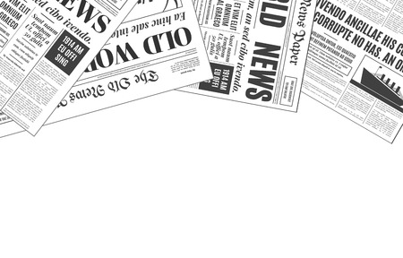 Old white newspaper vintage design with copy space. Retro background vector template with place for your text.