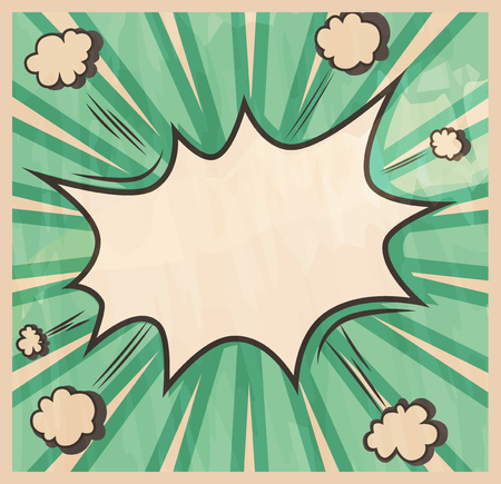 blank bomb: Retro style Background. Boom comic book explosion, beautiful vintage abstract template with copy space