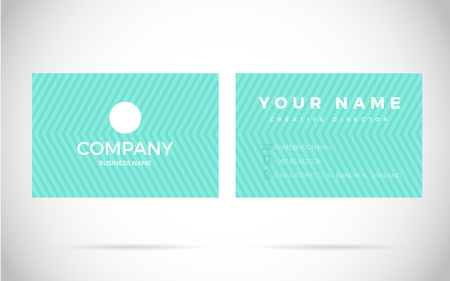 Modern Business card Design Template. Vector Elements with text