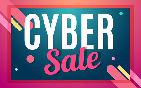 splashy: Cyber monday Big sale banner color design. Vector illustration template Illustration