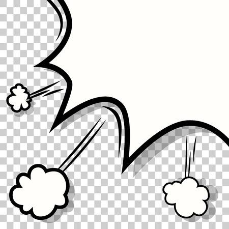 Transparante Achtergrond met Boom stripboek explosie vector ontwerp patroon