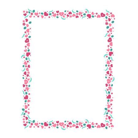 Plantilla de papel de vector de amor con corazones y flores. El diseño creativo de la invitación del partido, tarjeta de felicitación, de business Ilustración de vector