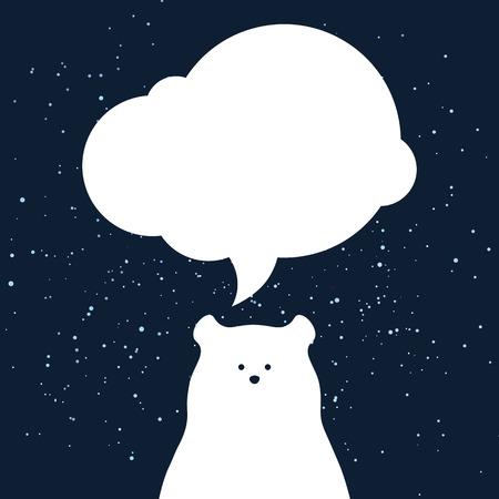 Eisbär Design Hintergrund. Vector Flache Niedliche Vorlage, Einfache ...