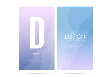 unfocused: Modern geometric vector design. Blurred soft color gradient vertical wallpaper background set. Sweet romantic collection for web and print banners.