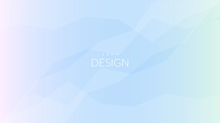 Modern geometric vector design. Blurred soft color gradient horizontal wallpaper background. Sweet romantic foreground for web and print banners.