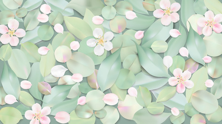 Białe pastelowe tła akwarela. Miękki zielonego koloru liście i różowi kwiaty w wodnym ilustracyjnym szablonie