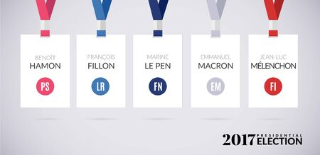 emmanuel: French presidential election 2017. Vector illustration Isolated on white background.